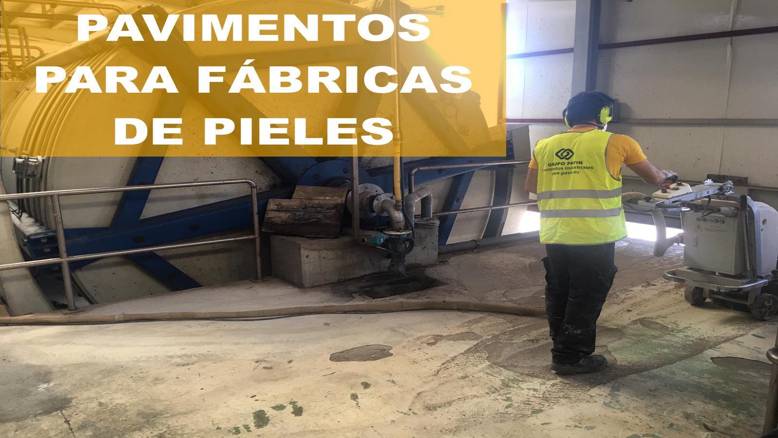 Pavimentos industriales de resinas para curtidores de piel