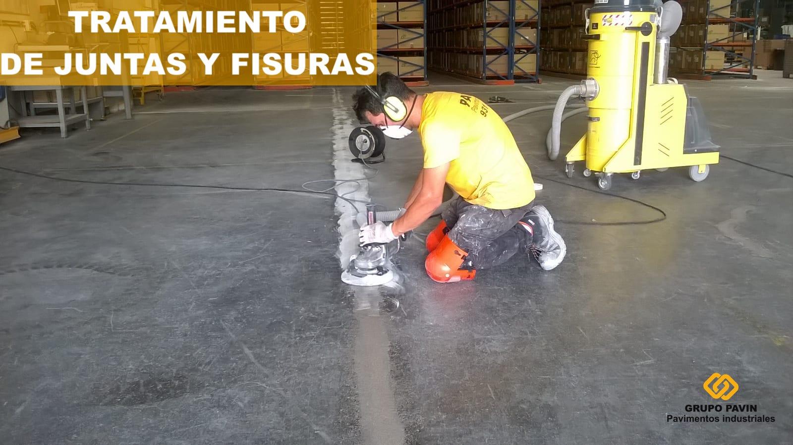 Tratamiento de juntas y fisuras en suelos industriales