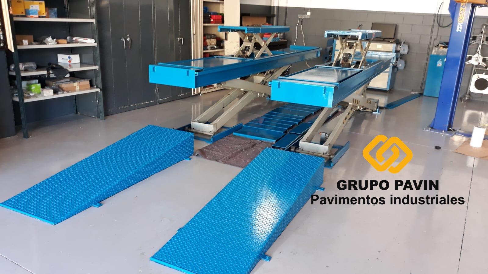 Pavimentos para talleres de coches en Barcelona