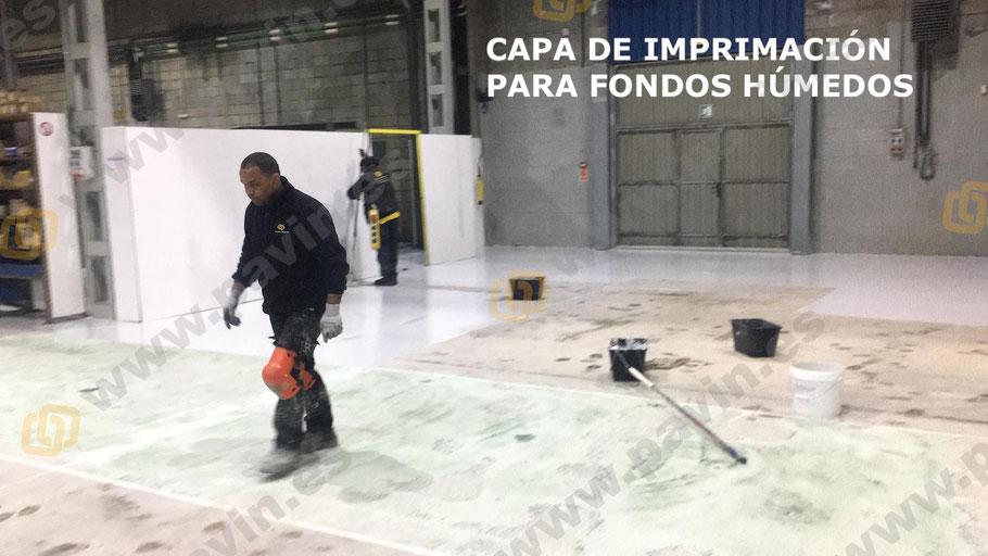 Suelos de resina para naves industriales con pavimentos de hormigón con humedad por remonte capilar