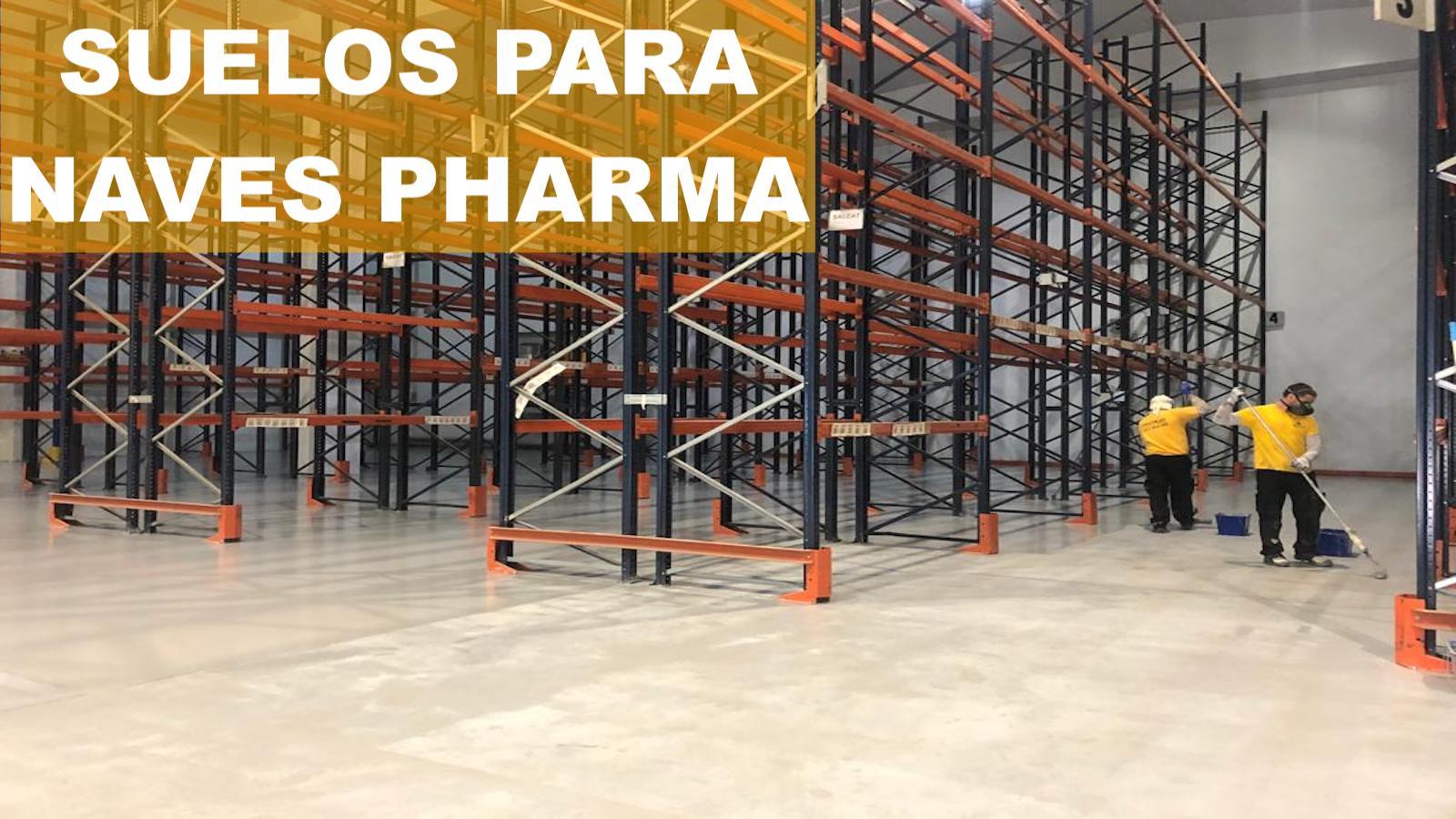 Suelos de resina epoxi para naves pharma