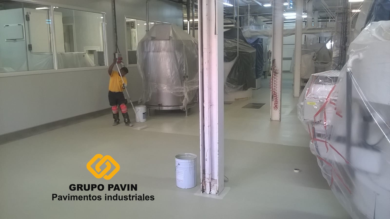 Pavimento industrial para fábrica de chocolates