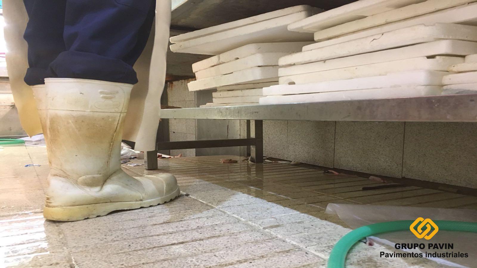 Pavimentos industriales para lonjas de pescado