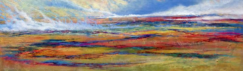 Morgen Land 3, 2014, mixed media on canvas