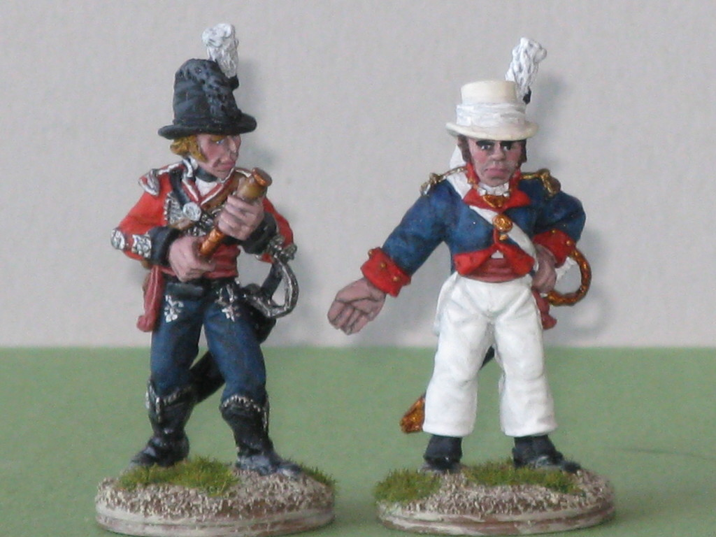 Chasseurs Officer and artillery officer of the Dominica Militia.