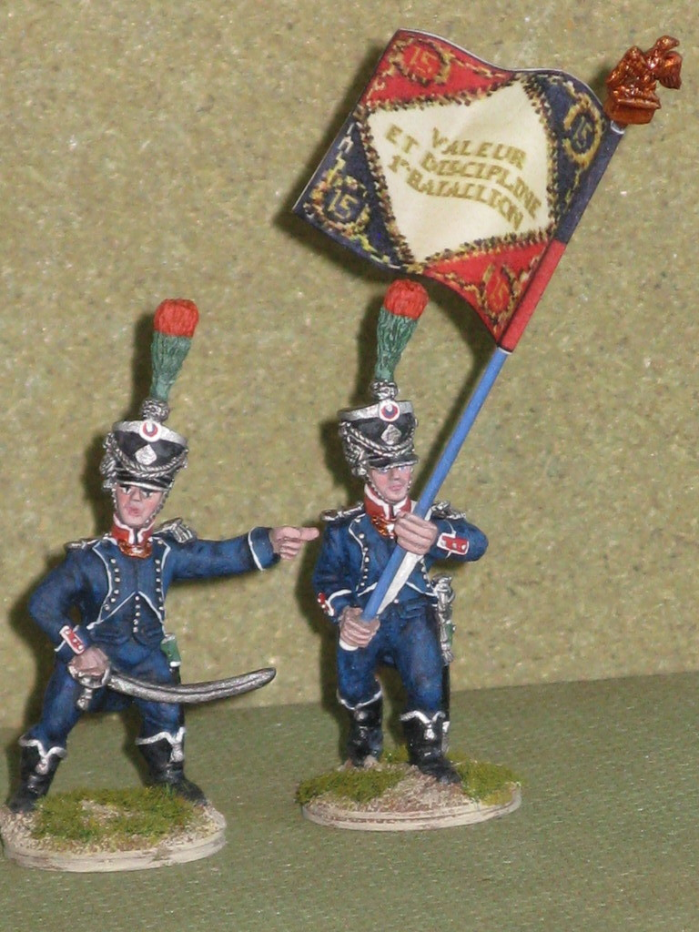 Ufficiale e portabandiera - Officer and standard bearer