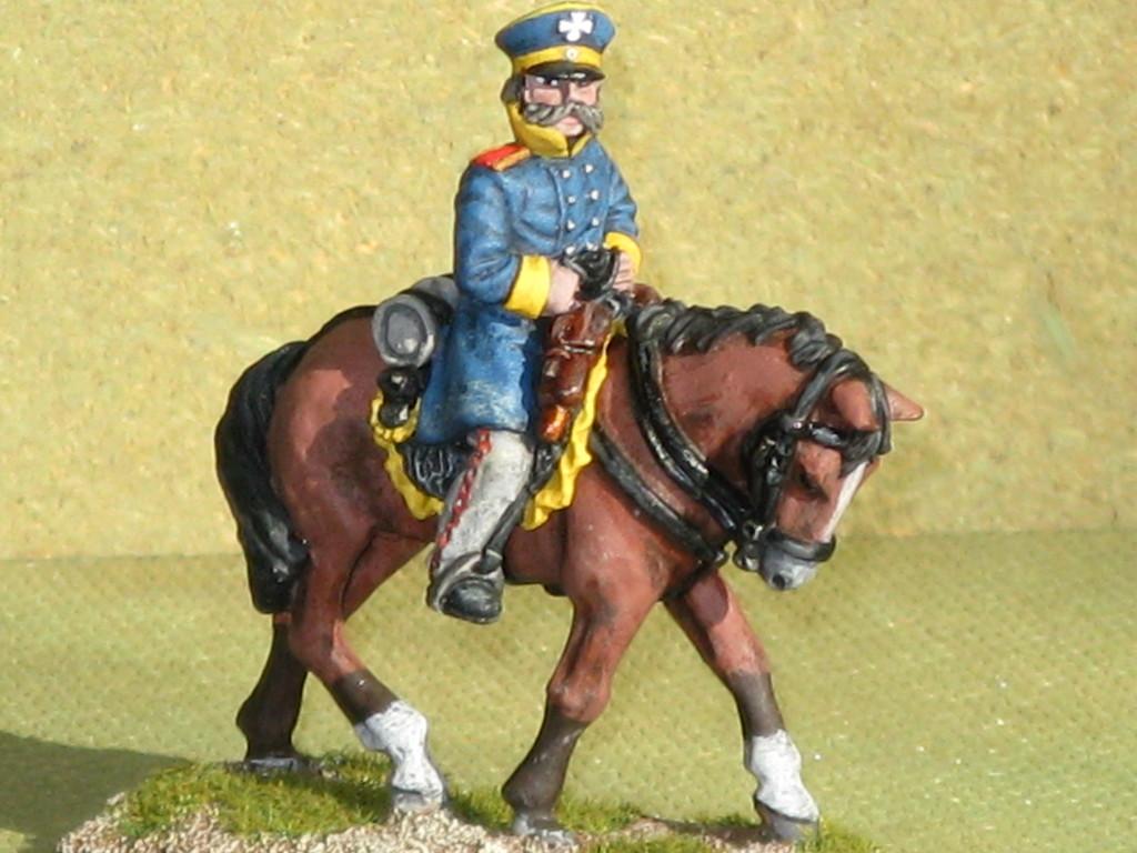 Silesian Landwehr Infantry Mounted Officer.