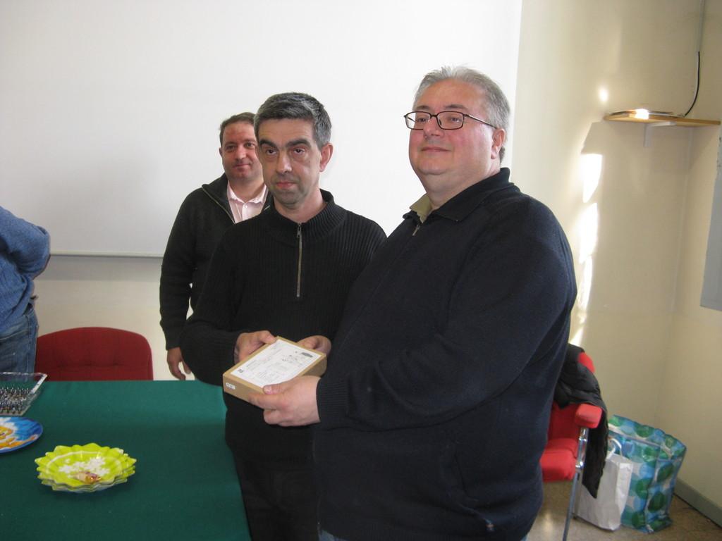 Il vincitore del premio ad estrazione: Massimo
