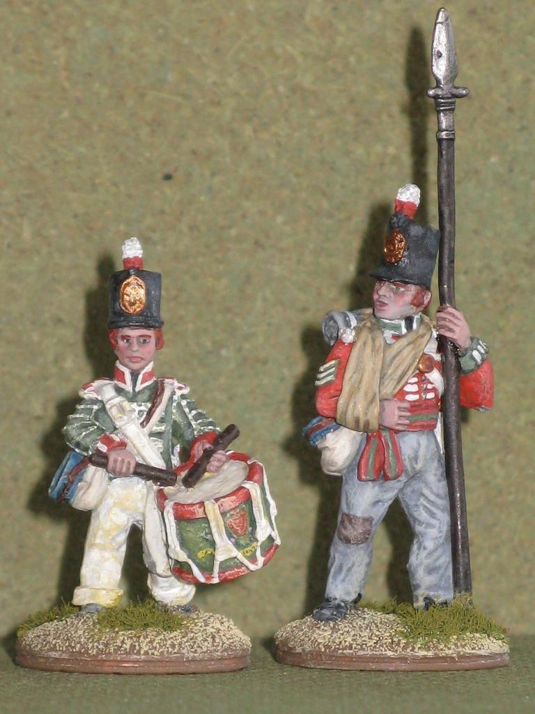 Tamburino e Sergente. Drummer and Sergeant.