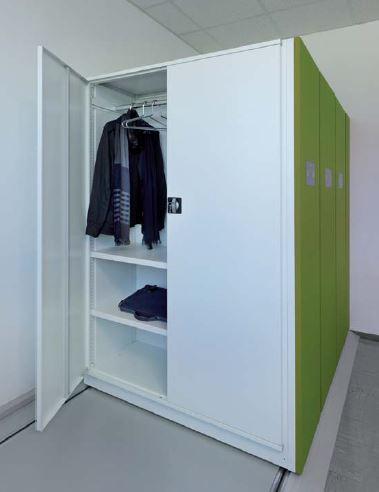 Mobilregal mit Garderoben Ablage für Büro - lagerconsulting.at