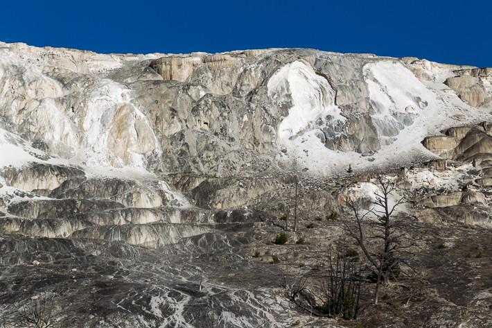 Mound Terrace ist lange ausgetrocknet, der Kalkstein bröckelt.