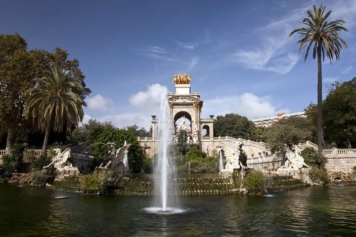 Kaskadenbrunnen im Parc de la Ciutadella.