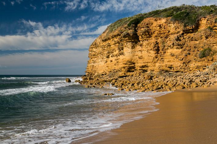 Am Bells Beach finden Surfer optimale Bedingungen zum Surfen.