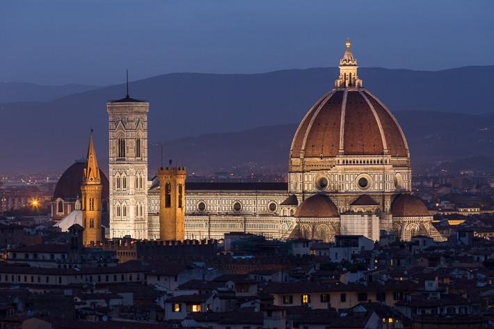 """Das Herzstück der Altstadt von Florenz ist die die Kathedrale """"di Santa Maria del Fiore""""."""