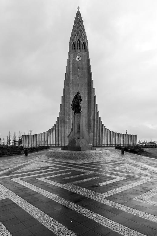 Hallgrímskirkja und Denkmal für Leif Eriksson