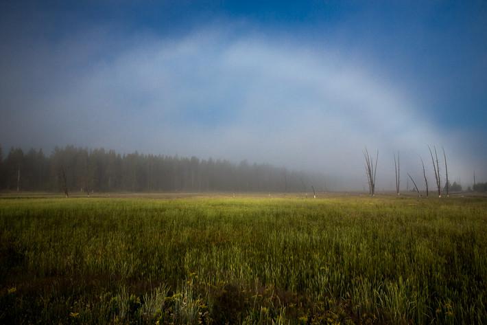 Ein Wolken- oder Nebelbogen!