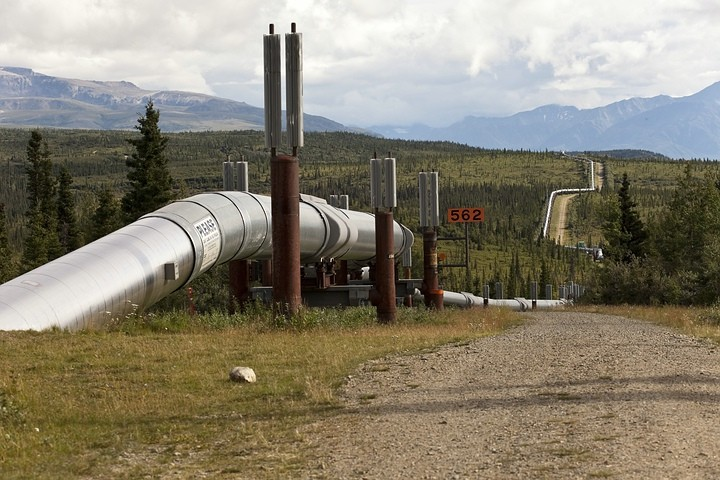 Öl-Pipeline durch Alaska