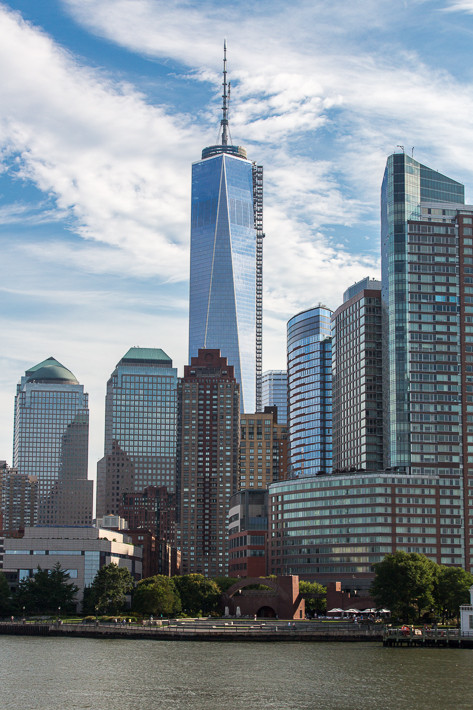 One World Trade Center, fotografiert von der Fähre.