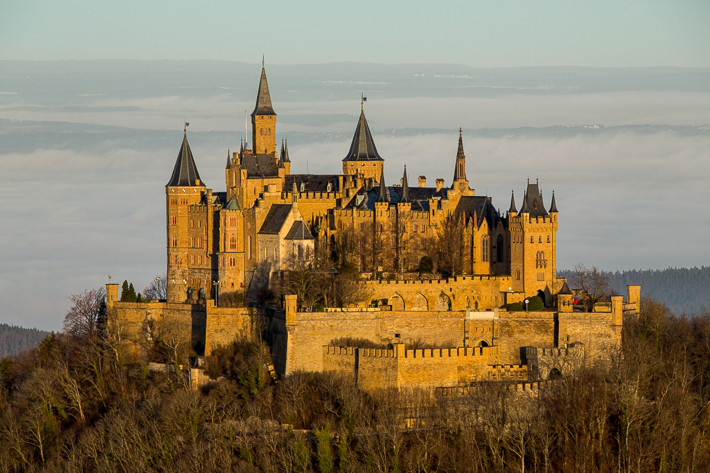 Ca. 30 Minuten nach Sonnenaufgang ist die Burg komplett im Licht.