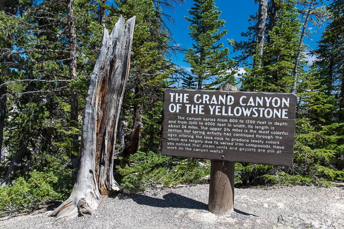 """Auch im Yellowstone gibt es einen """"Grand Canyon""""."""