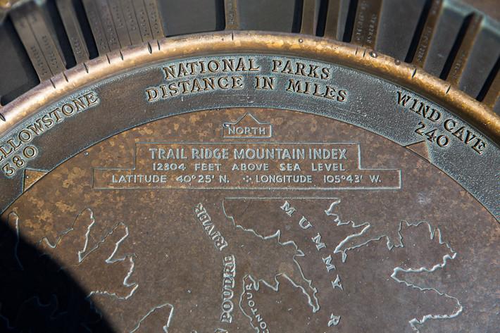 Der höchste zu Fuss erreichbare Punkt im Park: 12.304 ft = 3.750,3 m