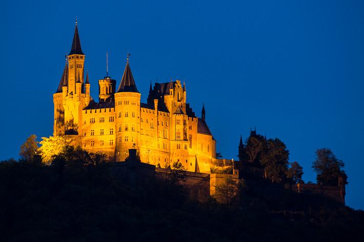 Blaue Stunde an der Burg Hohenzollern