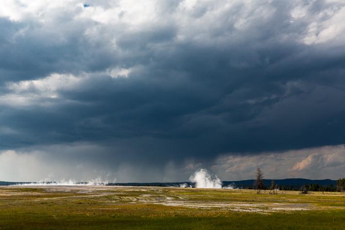 Gewitter sind im Yellowstone Nationalpark keine Seltenheit.