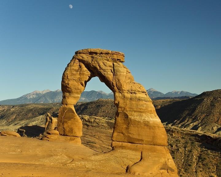 Sonnenuntergang am Delicate Arch - das Highlight im Arches NP!