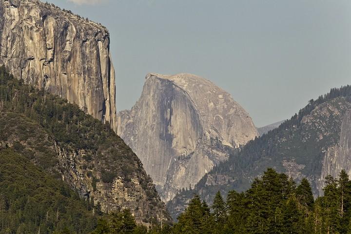 El Capitan und Half Dome