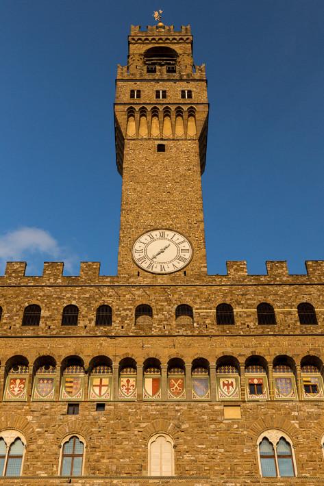 Der Palazzo Vecchio an der Piazza della Signoria.