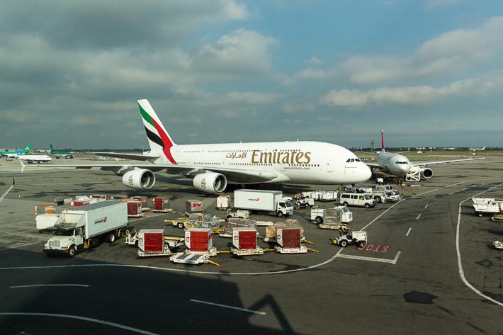 Der Airbus A380 von Emirates.