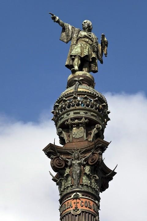Die Kolumbussäule in Barcelona.