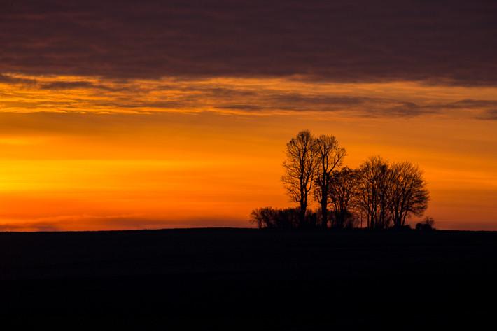 Manchmal herrscht eine perfekte Stimmung / Sonnenaufgang am 18. Januar 2014.