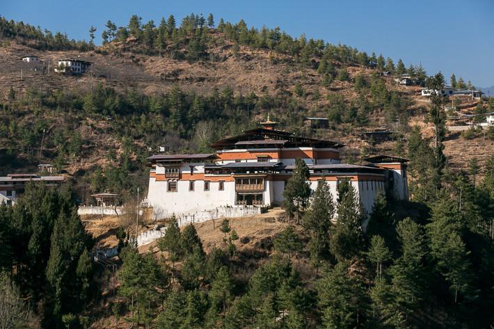 Das etwas außerhalb von Thimphu gelegene Simtokha Dzong ist ein sehr altes Dzong.