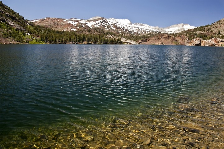 Ellery Lake auf ca. 2900m Höhe.