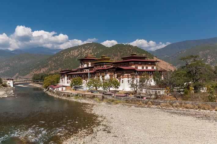Einer der schönsten Orte Bhutans: Pungthang Dewachen Phodrang (Punakha Dzong)