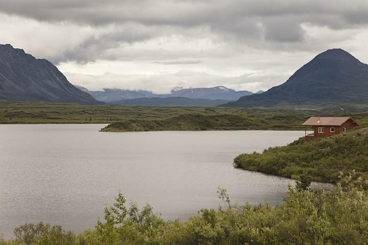 Blick vom Restaurant auf die Seen.