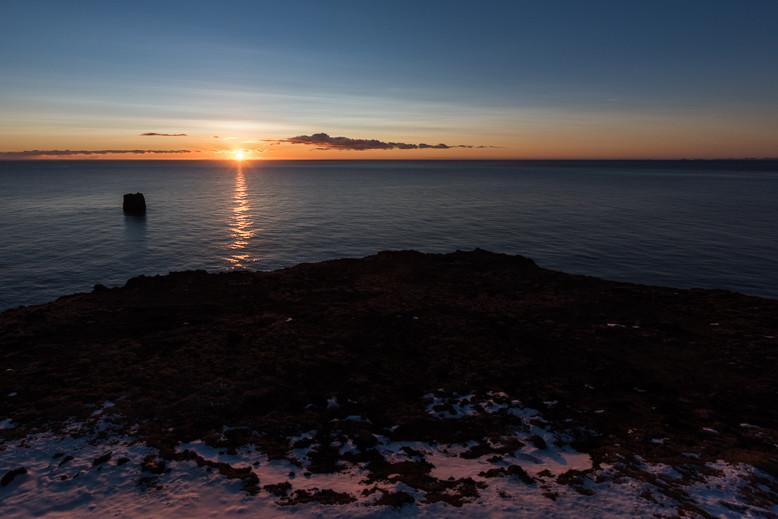 Herrlicher Sonnenuntergang am Kliff!