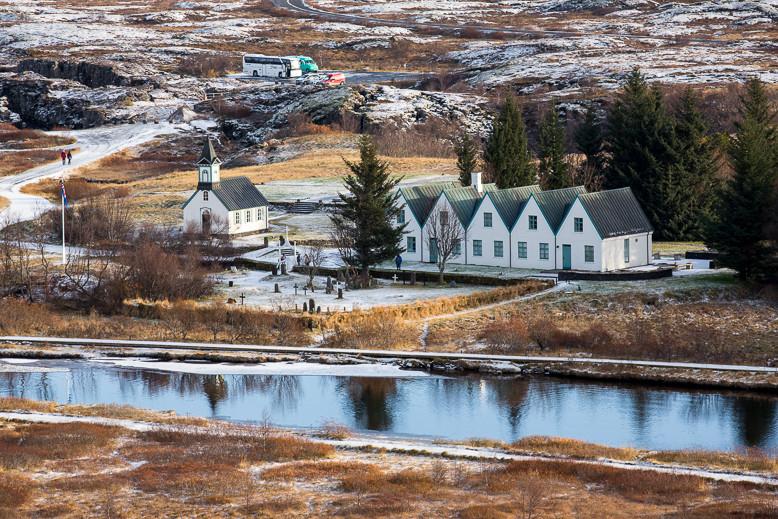 Þingvellir war der alte traditioneller Versammlungsort des Althing.