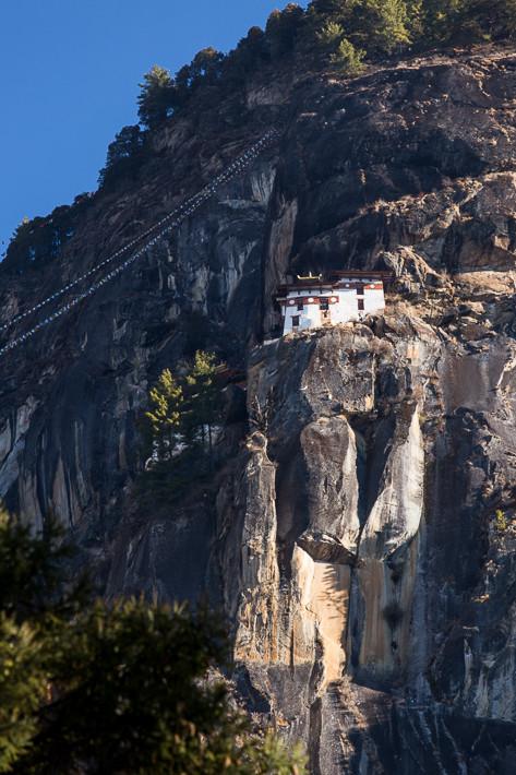 Der erste Blick auf das Kloster.