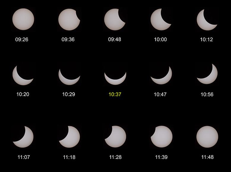 Verlauf der Sonnenfinsternis (20. März 2015)