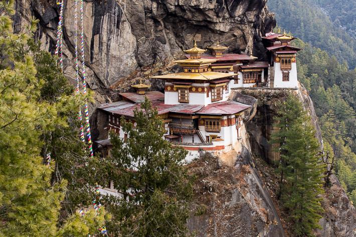 DER Aussichtspunkt ist der Beste: Blick auf Taktsang Monastery (Tiger's Nest)
