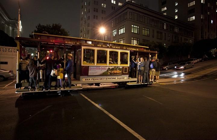 Cable Car - das berühmte Fortbewegungsmittel in San Francisco.