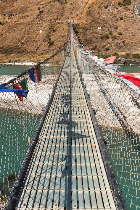 Die Hängebrücken in Bhutan - leicht schwankend, aber sicher!