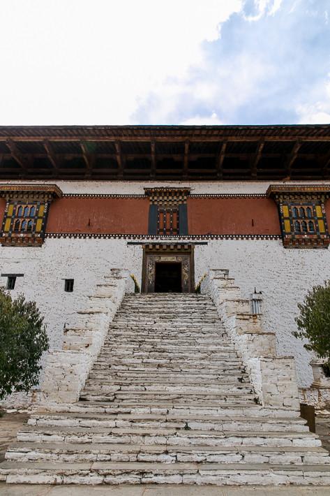 Eingang des Paro Dzong.