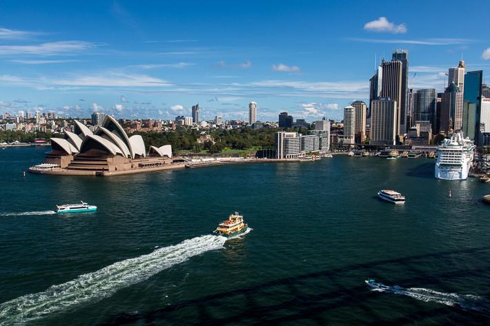 """Die """"Sydney Cove"""" ist eine kleine Bucht im Port Jackson und der Hafen für die Fähren."""