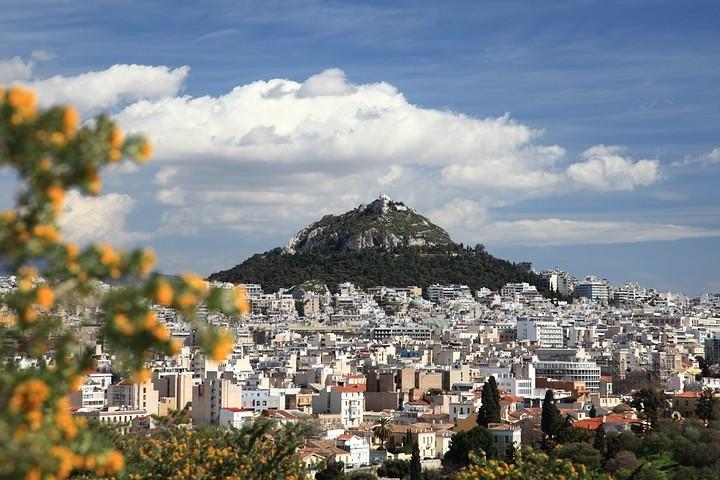 Lykavittós, ein beliebter Aussichtspunkt in der Innenstadt von Athen.
