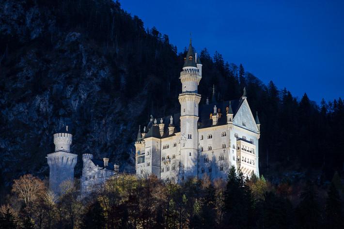 Blaue Stunde: Schloss Neuschwanstein