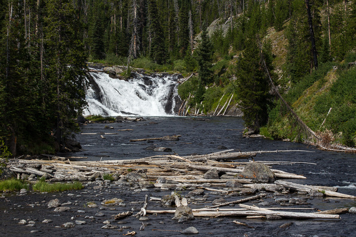 Lewis Falls (9 m) und Snake River