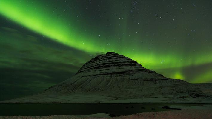 Polarlicht am Kirkjufell